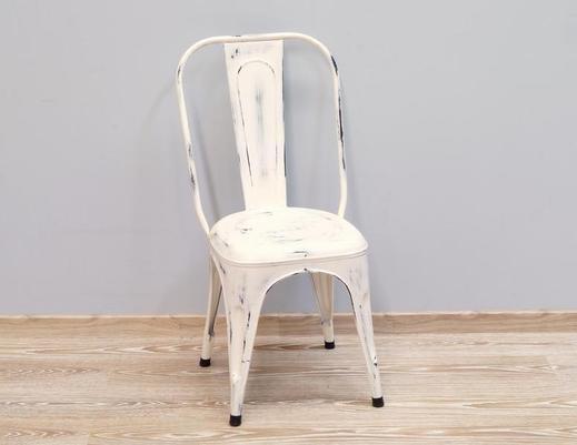 Metalowe krzesło indyjskie kolonialne LOFT