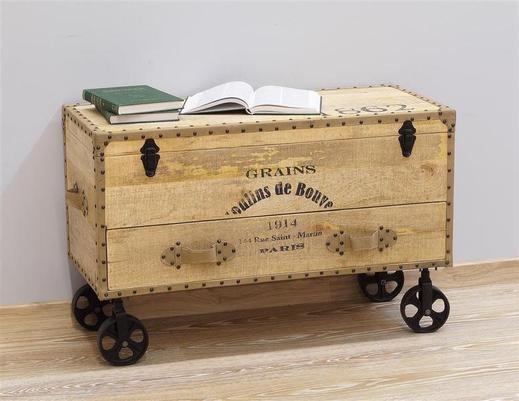 Kufer kolonialny indyjski w stylu loft