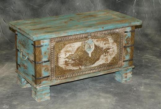 Kufer kolonialny indyjski vintage