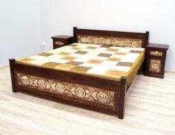 Łóżko drewniane kolonialne indyjskie
