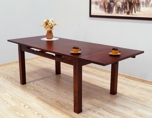 Stół indyjski kolonialny z dostawkami