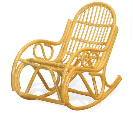Fotel rattanowy bujany