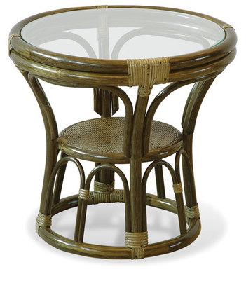 Stolik rattanowy z szybą