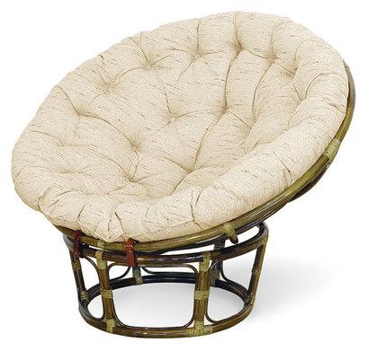 Fotel papasan z rattanu