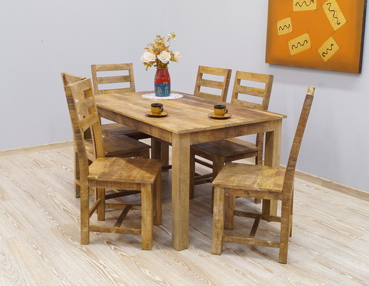 Komplet obiadowy LOFT: stół + 6 krzeseł