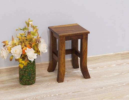 Stolik kolonialny mały z litego drewna