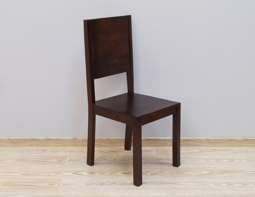 Krzesło kolonialne z litego drewna