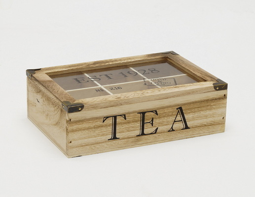 Drewniana skrzynka pudełko na herbatę
