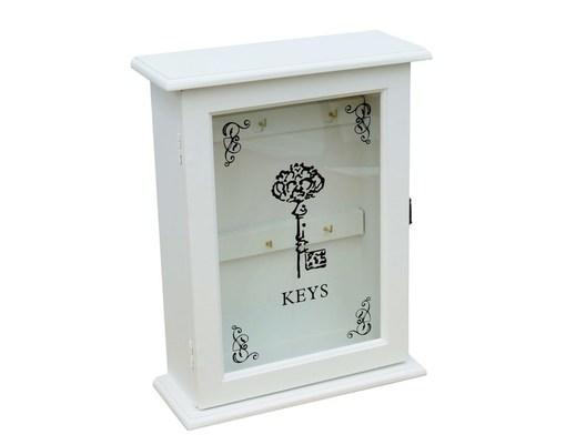Biała szafka na klucze