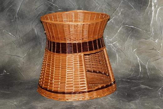 Budo-leżak okrągły z wikliny