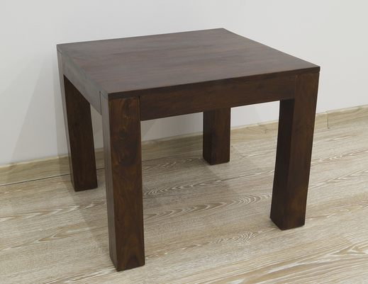 Stolik kolonialny z litego drewna