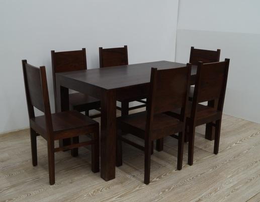 Kolonialny komplet obiadowy stół + 6 krzeseł