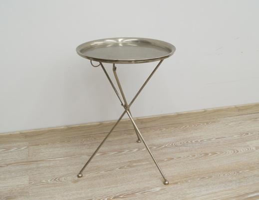 Metalowy indyjski stolik kolonialny w stylu LOFT