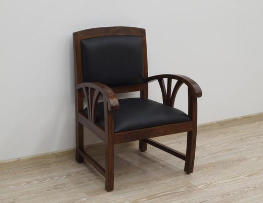 Drewniany fotel indyjski kolonialny