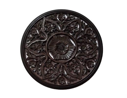 Kolonialny okrągły indyjski panel ścienny