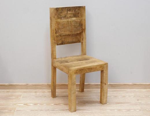Drewniane krzesło indyjskie w stylu loft