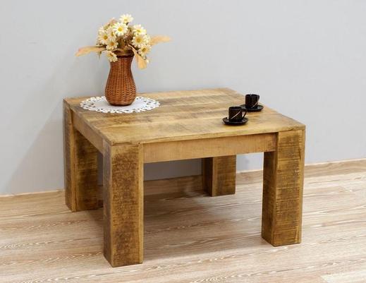 Stolik indyjski w stylu LOFT z litego drewna mango