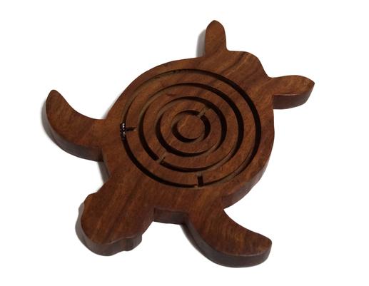 Drewniana indyjska gra labirynt żółw