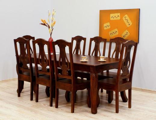 Indyjski komplet obiadowy  stół + 8 krzeseł