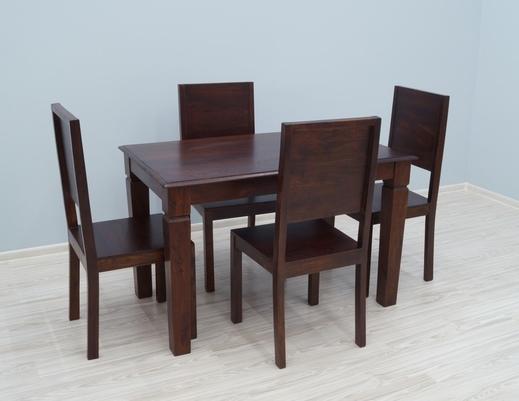 Kolonialny komplet obiadowy stół + 4 krzesła