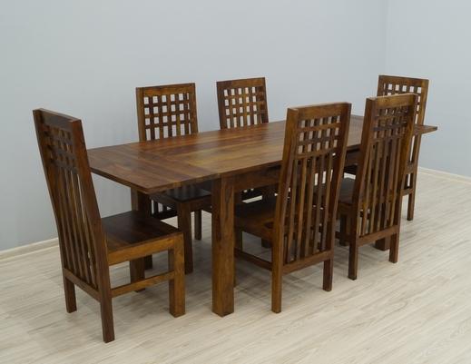 Indyjski komplet obiadowy stół + 6 krzeseł