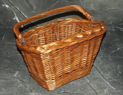 Kosz rowerowy z wikliny