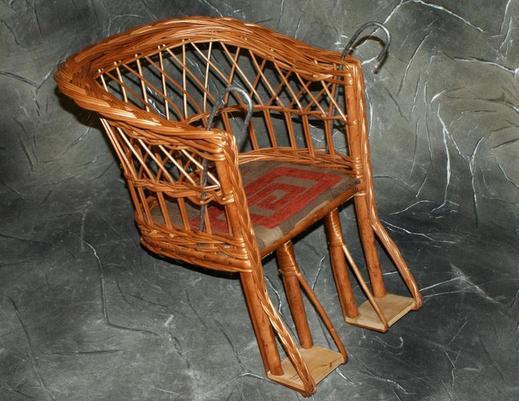 Fotelik rowerowy z wikliny