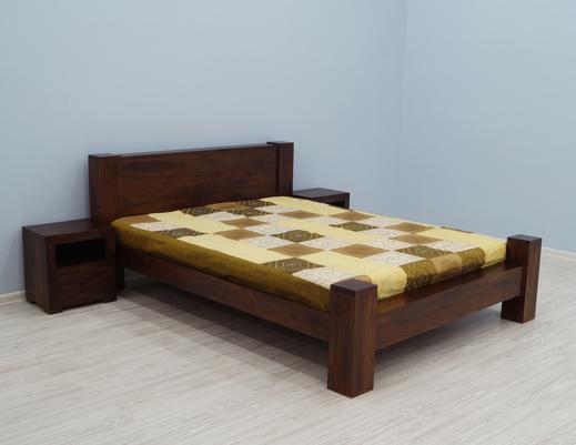 Łóżko kolonialne lite drewno indyjskie palisander