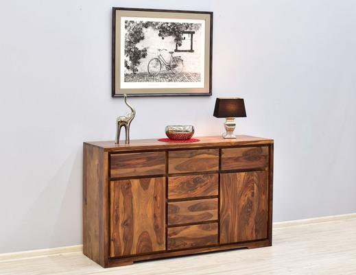 Komoda kolonialna lite drewno palisander indyjski modernistyczna