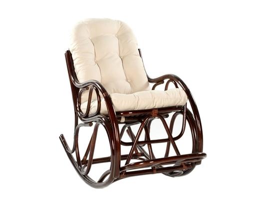 Fotel bujany z rattanu ciemny brąz
