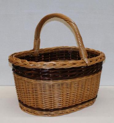 Kosz zakupowy z wikliny