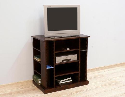 Komoda indyjska TV z półkami na płyty CD i DVD