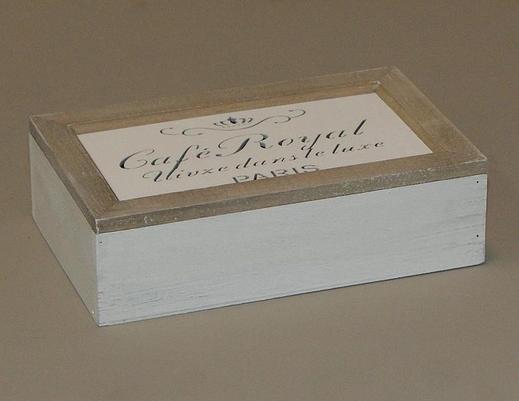 Drewniana skrzynka pudełko na kawę