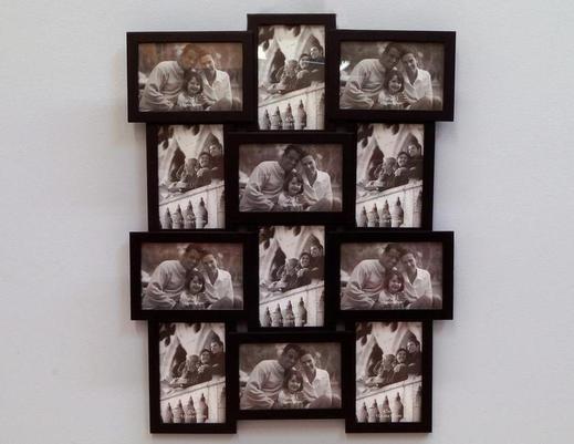 Drewniana ramka na zdjęcia multi