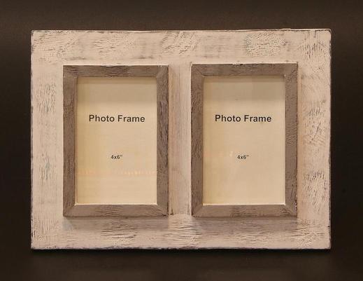 Indyjska drewniana ramka na dwa zdjęcia