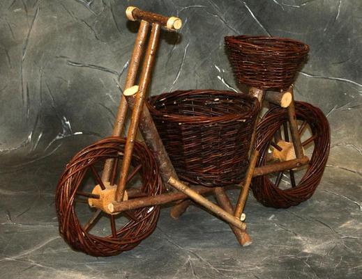Kwietnik wiklinowy rower