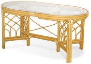 Stół rattanowy z szybą