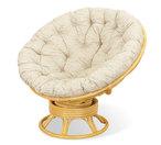 Fotel papasan bujano-obrotowy z rattanu