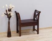 Drewniana ławka kolonialna indyjska z pojemnikiem