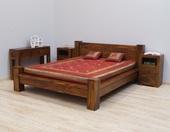 Łóżko kolonialne z litego drewna
