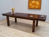 Stół rozkładany kolonialny z litego drewna