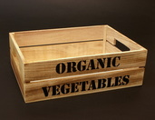 Dekoracyjna skrzynia na warzywa, owoce