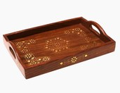 Indyjska taca drewniana
