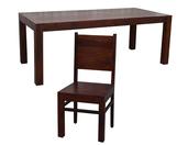 Kolonialny komplet obiadowy stół + 8 krzeseł