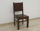 Drewniane krzesło indyjskie kolonialne