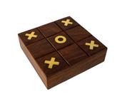 Drewniana indyjska gra kółko i krzyżyk
