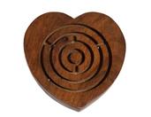 Drewniana indyjska gra labirynt serce