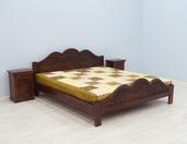 Łóżko kolonialne indyjskie z litego drewna palisandru