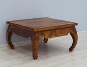 Indyjski stolik opium z litego drewna