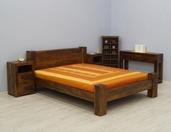 Łóżko kolonialne lite drewno palisander